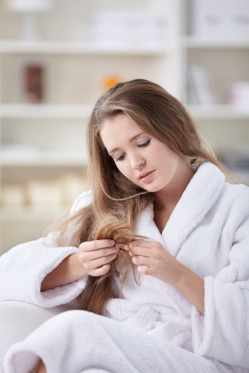 long hair split ends problem