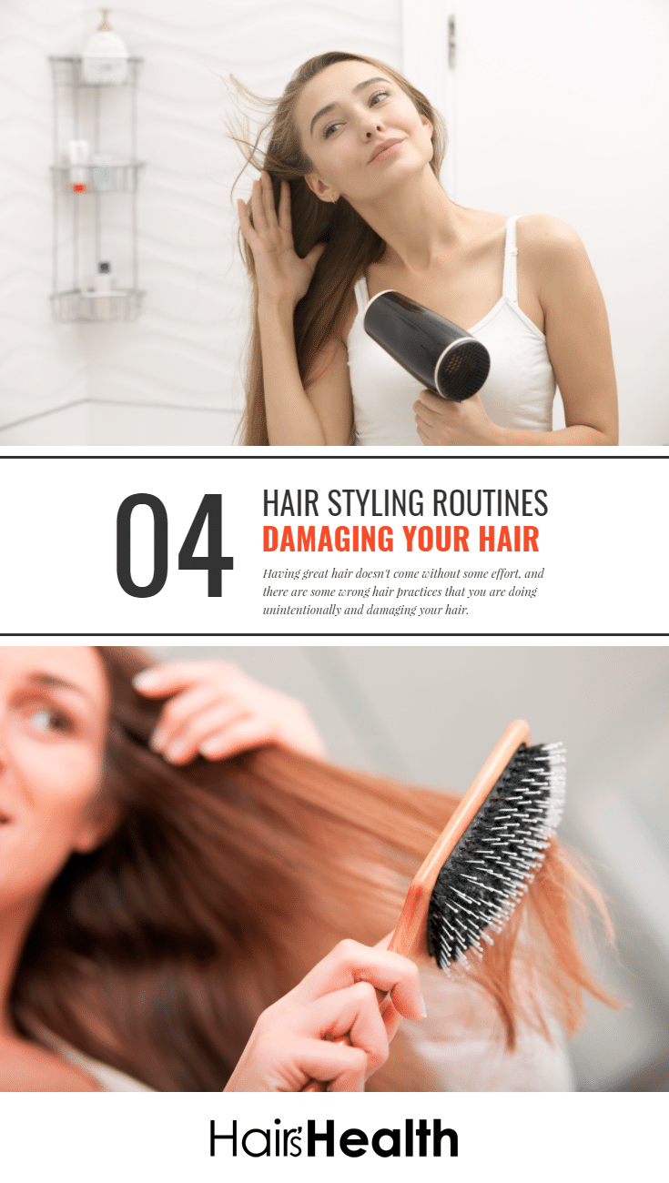 Wrong Hair Styling Routines Damaging Your Hair