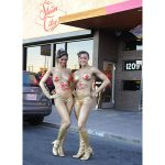 Skin City Body Painting Gold Models