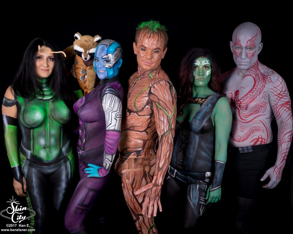 Skin City Guardians of the Galaxy Halloween Body Paint Costumes
