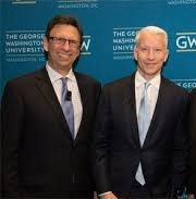 Emmy Award-winning Frank Sesno with Anderson Cooper