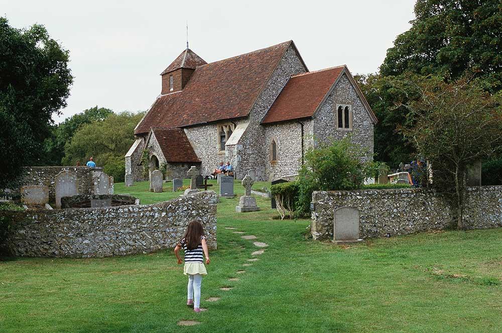 Slide of East Dean Church Sussex