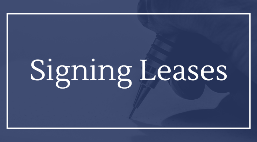 Signing Leases