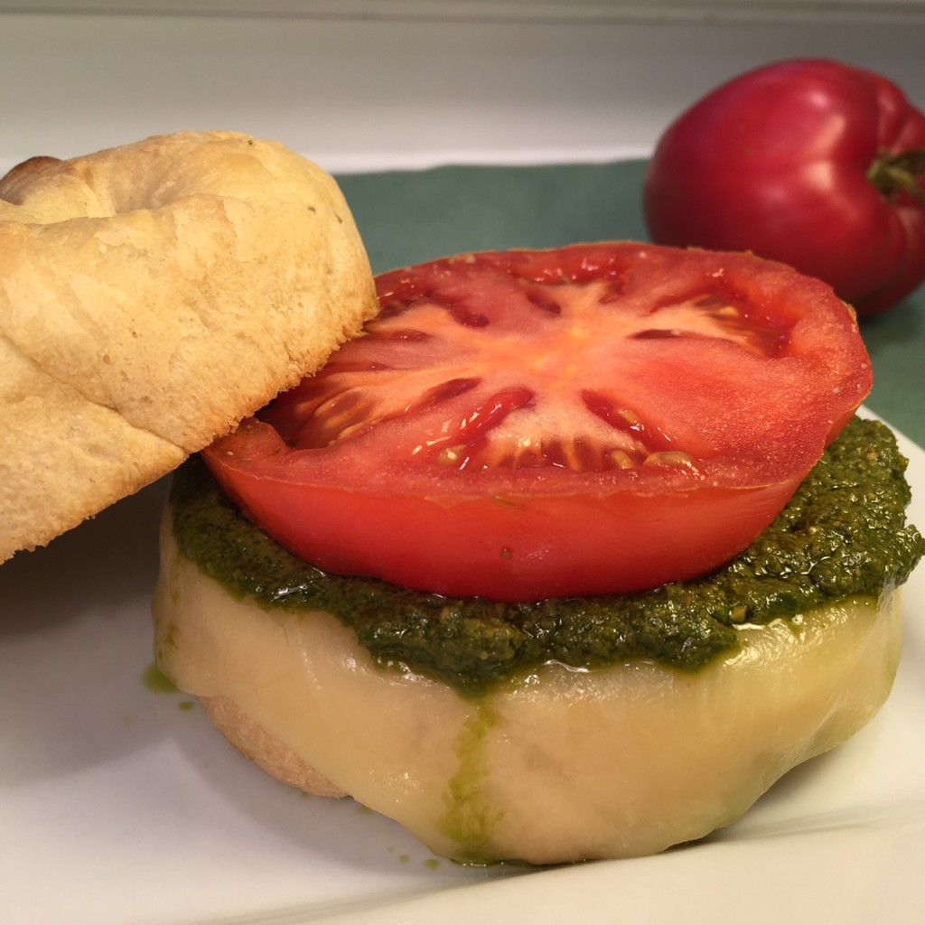 TOASTY TOMATO PESTO SANDWICH