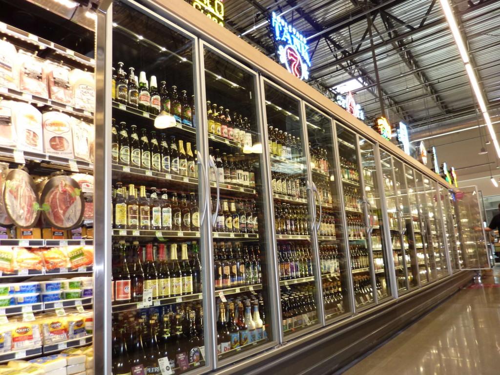 Beer aisle.