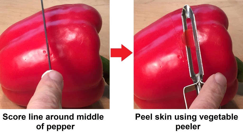 peeling pepper