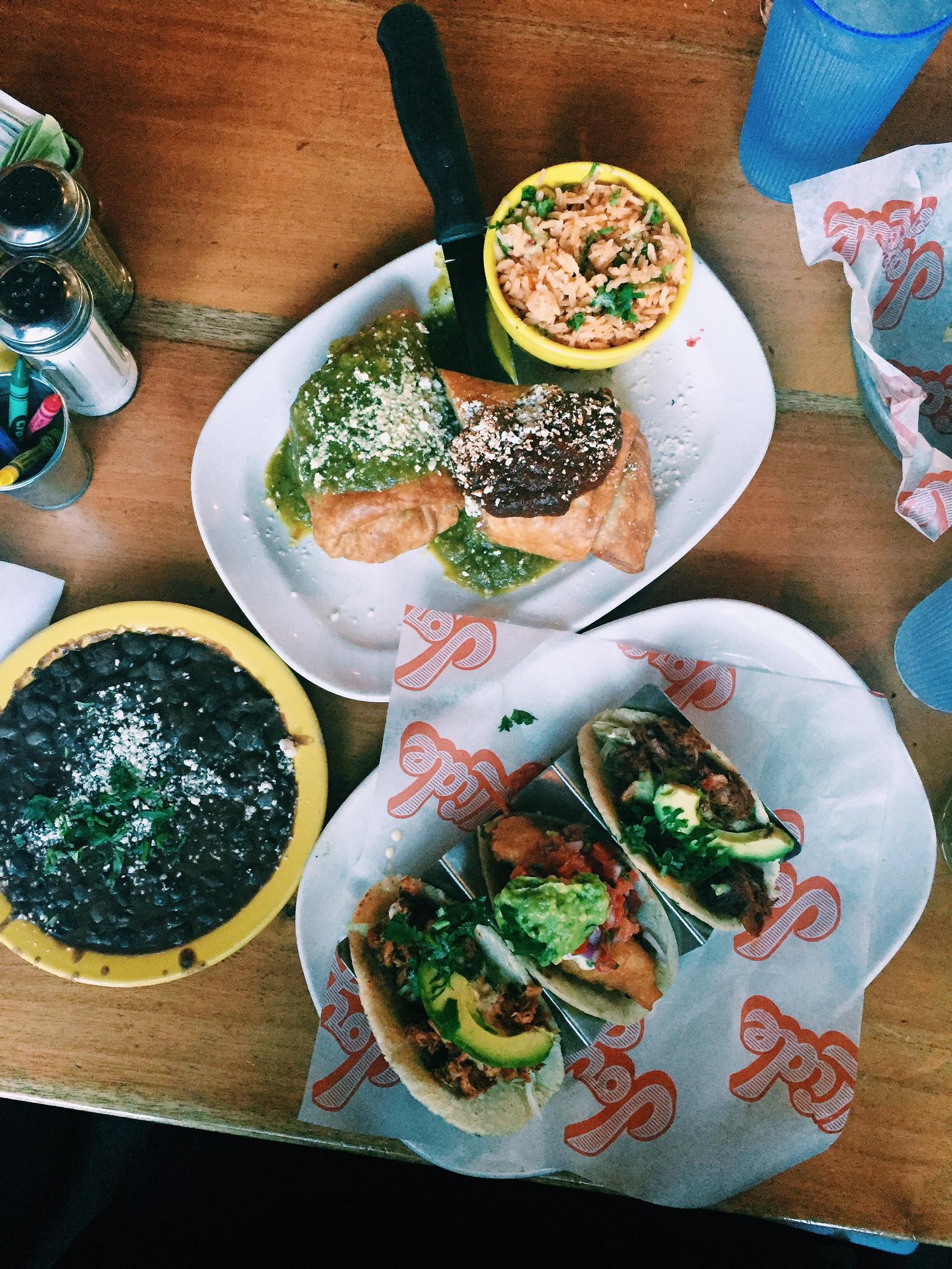 Joyride Taco House meal