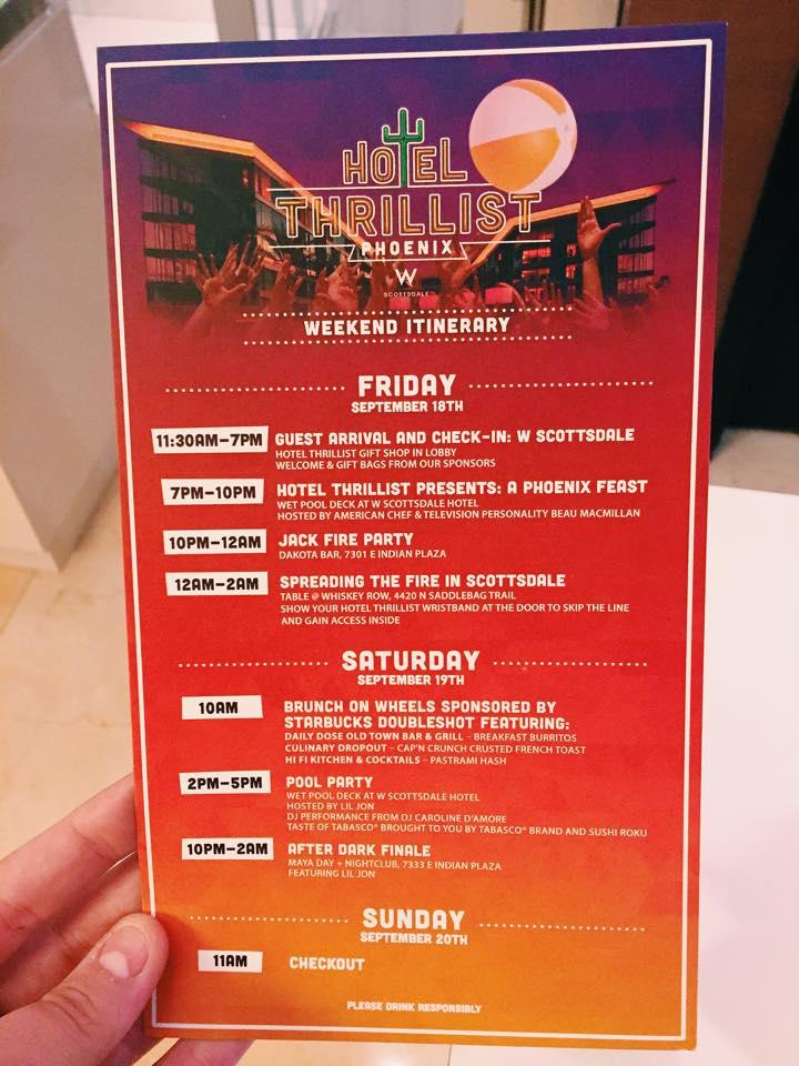 Hotel Thrillist Itinerary