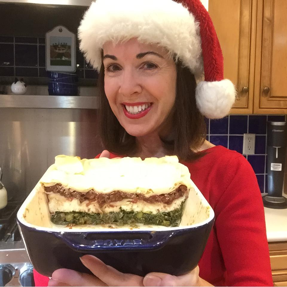 Christmas lasagne & Bonnie