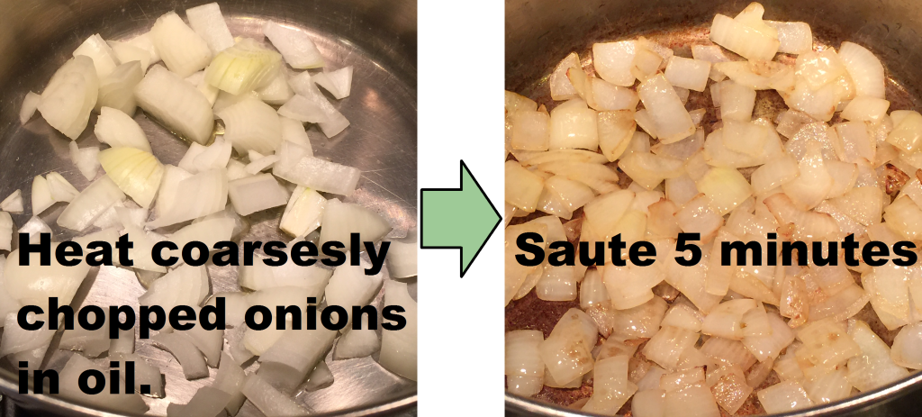 onions sauteing