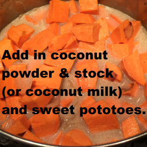 sweet pot soup add yams