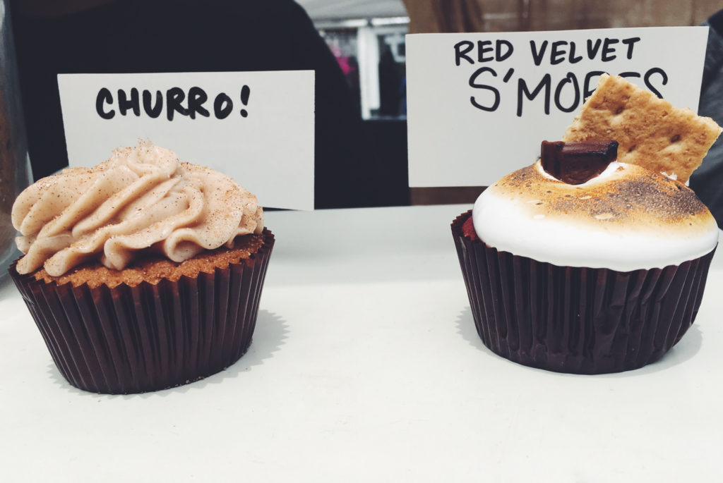 Yes, that cupcake is topped with toasted marshmallow. I think #nomnomnom is actually appropriate here.