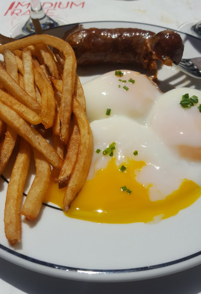 Egg Frites and Sausage