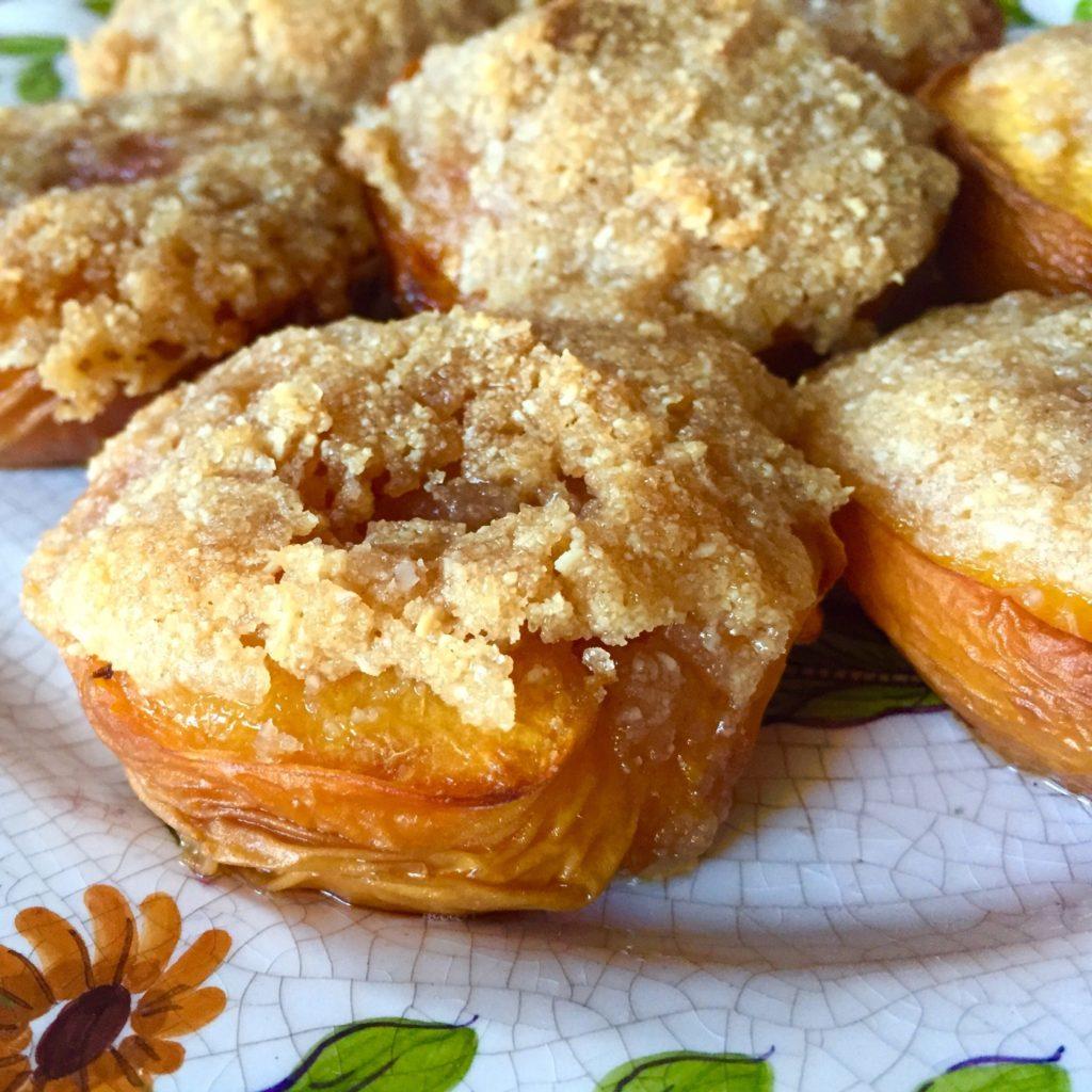 peach, almond, crisp