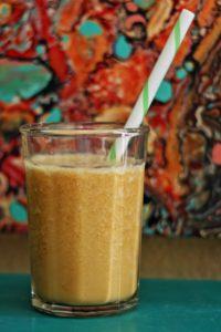 green tea, peach, smoothie, healthy, summer