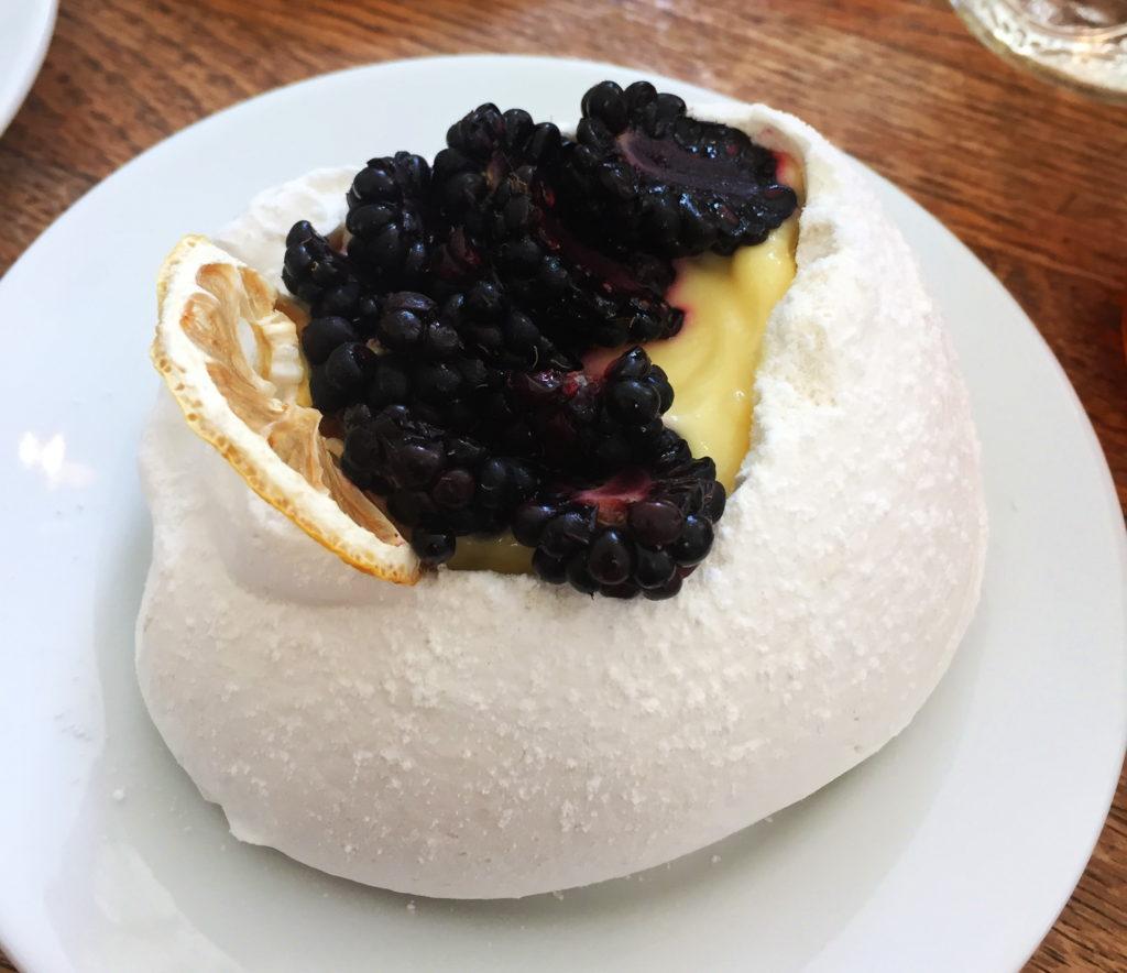 blackberry, pavlova, huckleberry cafe, santa monica, california, dessert, foodie