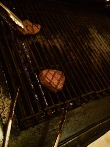 Action shot! Check out those perfect grill marks.