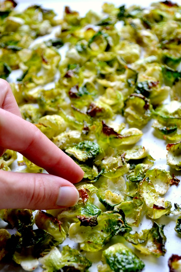 salt and vinegar brussels sprouts chips