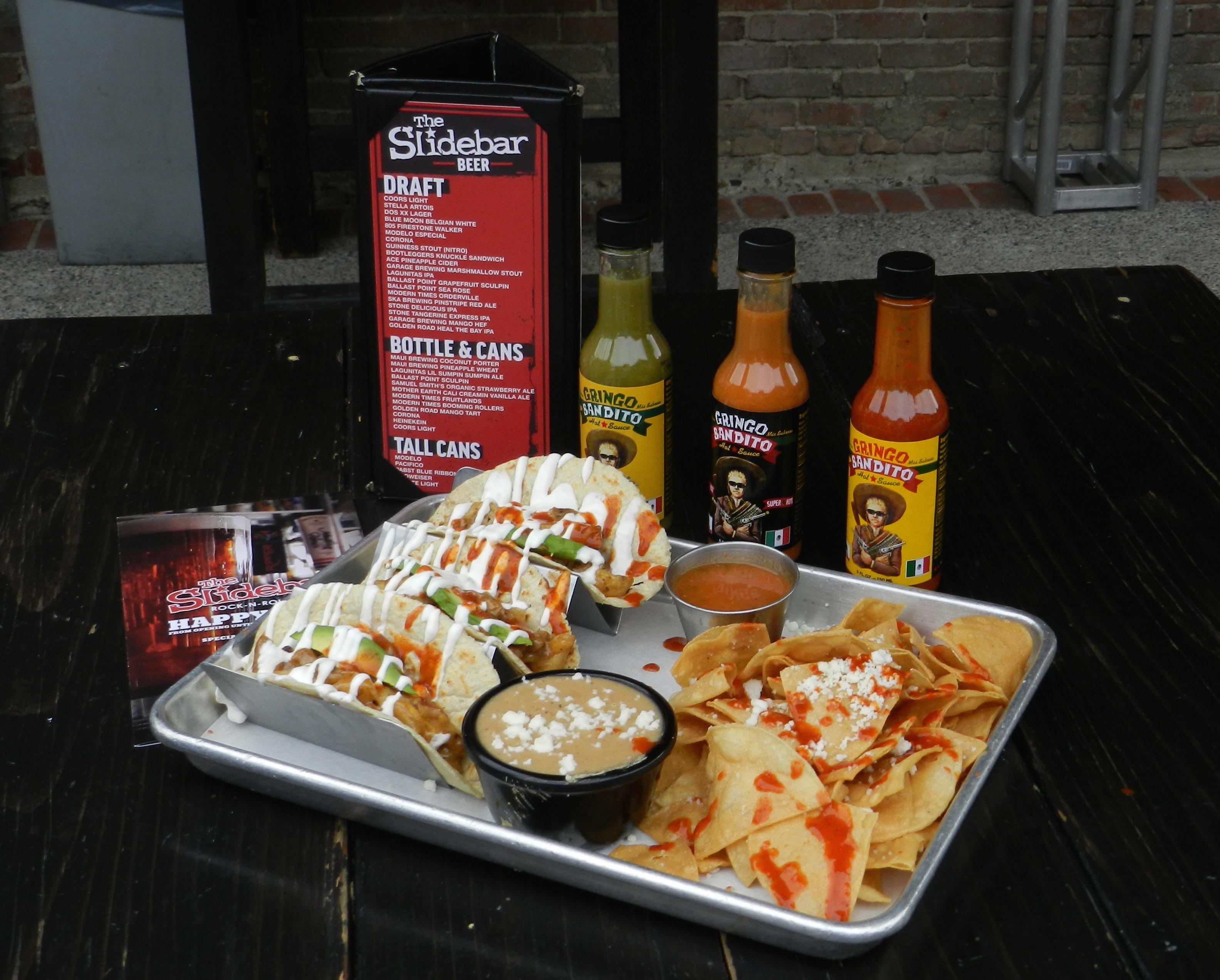 Slidebar in Fullerton, CA: Gringo Bandito Hot Sauce And A