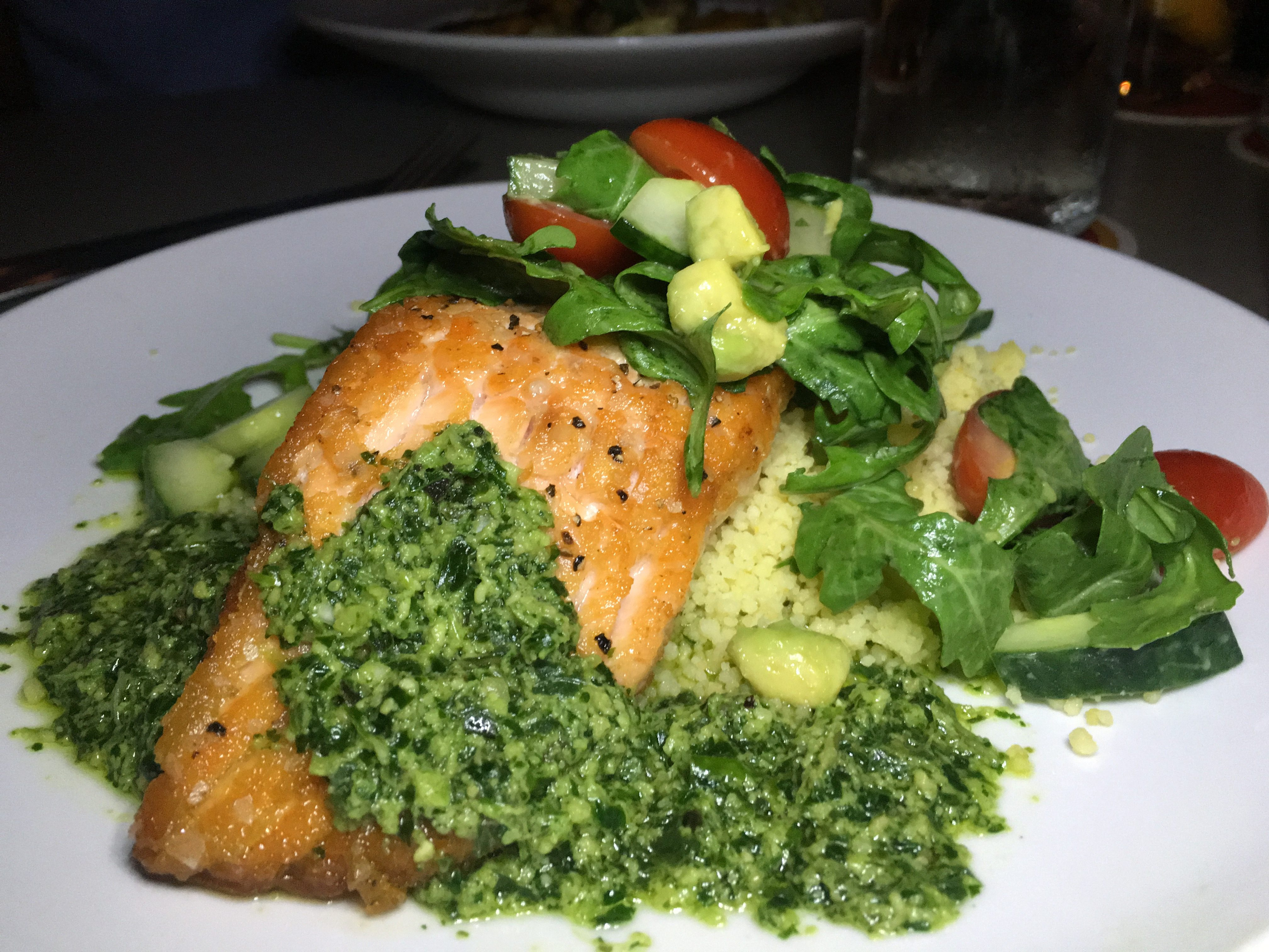 Lounge Here - Grilled Salmon - East Dallas - The GG List - Girls on Food Blog