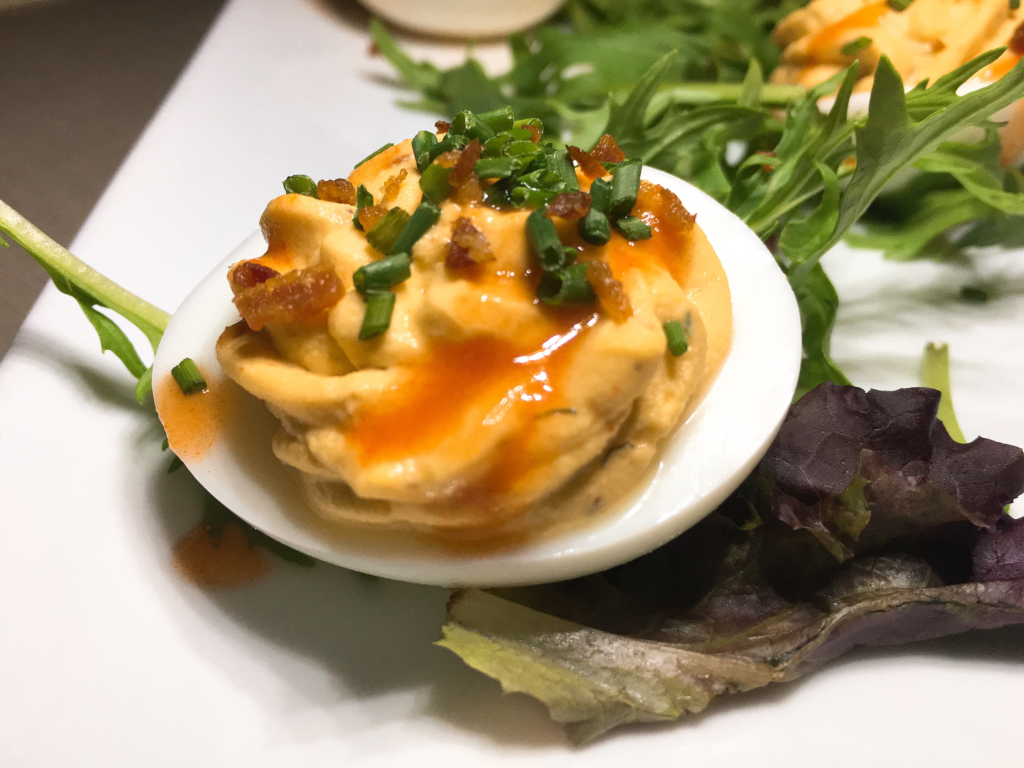 Lounge Here - Deviled Eggs - East Dallas - The GG List - Girls on Food Blog