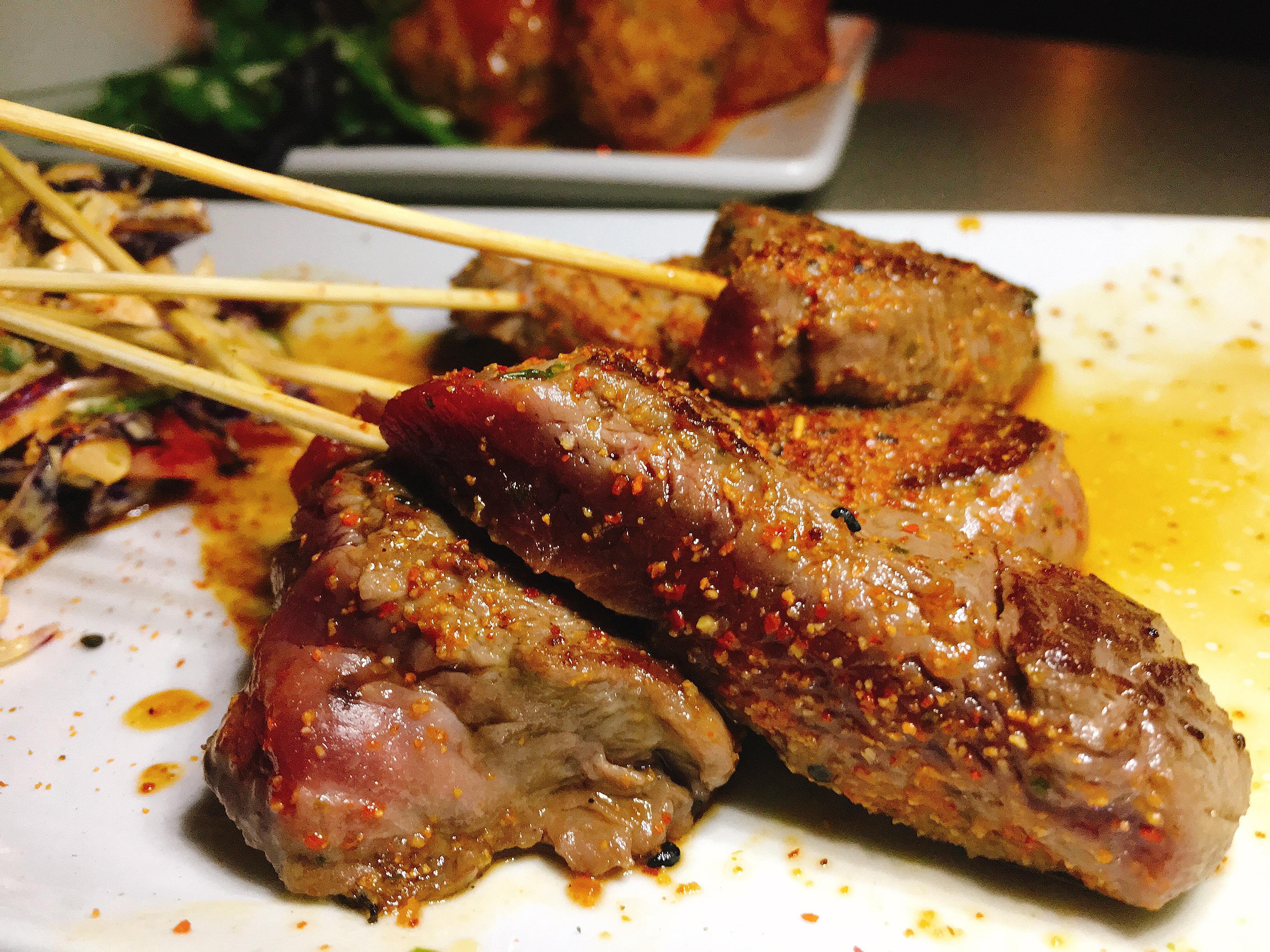 Lounge Here - Tenderloin Skewers - East Dallas - The GG List - Girls on Food Blog