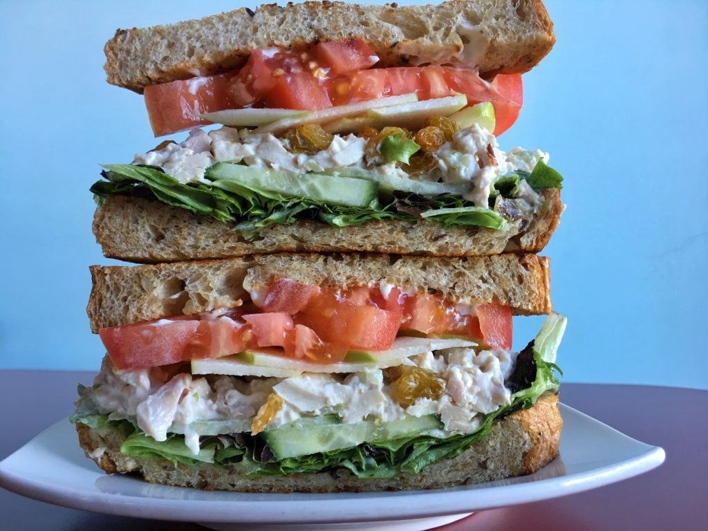 chicken waldorf sandwich truffles n bacon