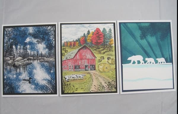 Sept. 27, Thurs. 9:30-11:30 am Stampscapes & Makin' A Scene cards with Char