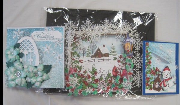 Oct. 20, Sat. Heartfelt Christmas cards (3) with Lynda