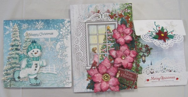 Nov. 3  Sat. Heartfelt Christmas cards (3) with Lynda