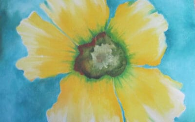 May 4, Sat. Oil Paint Yellow Flower Bloom with Nina S. 10 a.m. – noon