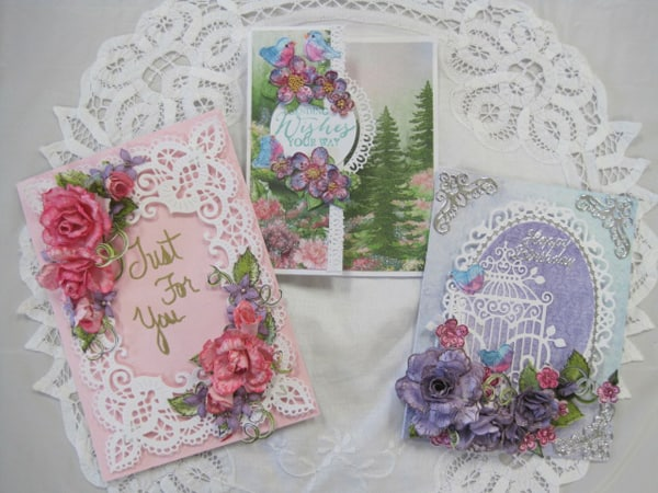 June 15, Sat.  Heartfelt floral cards with Lynda
