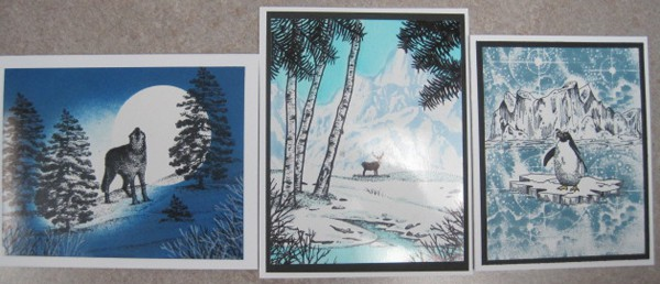 June 27 date change, Thurs. Stampscapes cards with Char