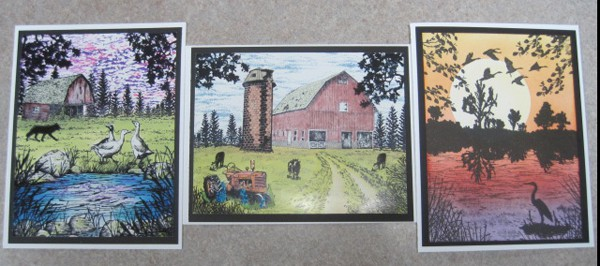 Sept 5 & 19, Thurs Stampscapes class (same cards) 9:30 a.m.