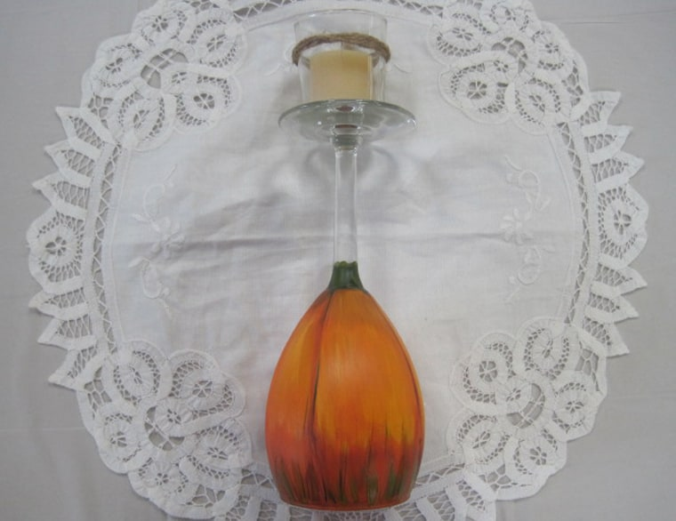 Sept. 28, Sat. 9:30 am Pumpkin Painted votive holders class