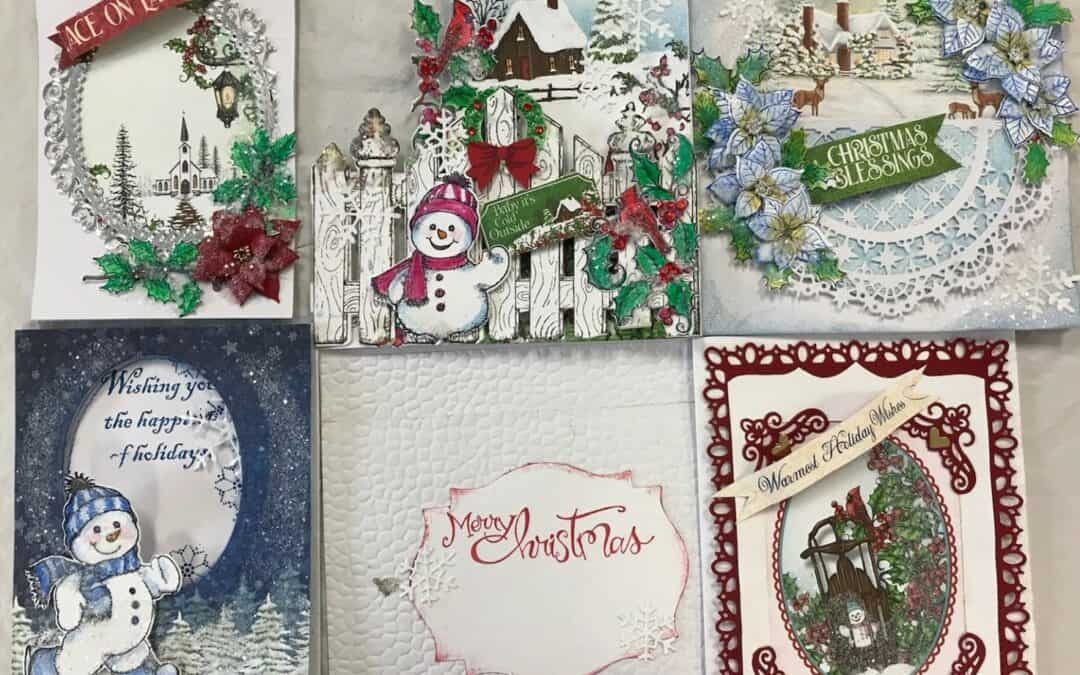 Nov. 16, Sat. 9:30 am Heartfelt 5 Christmas card class!