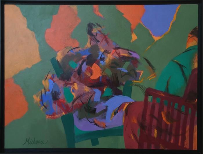 Robert Michener BackyardConversation 30x40 700