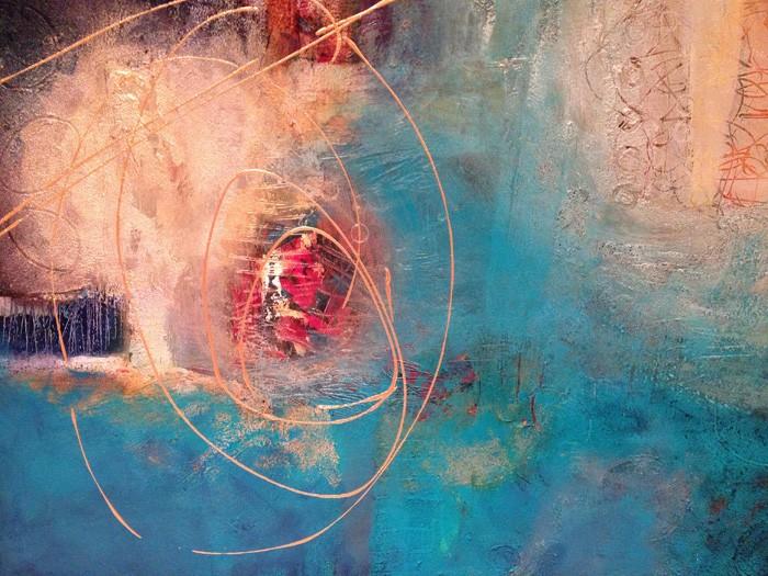 Maria Entis Blue Labyrinth 24x30 700