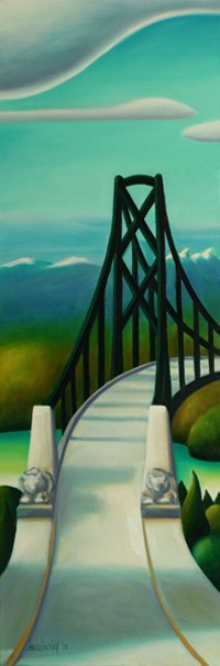 Dana Irving Above the Lions Gate Painting