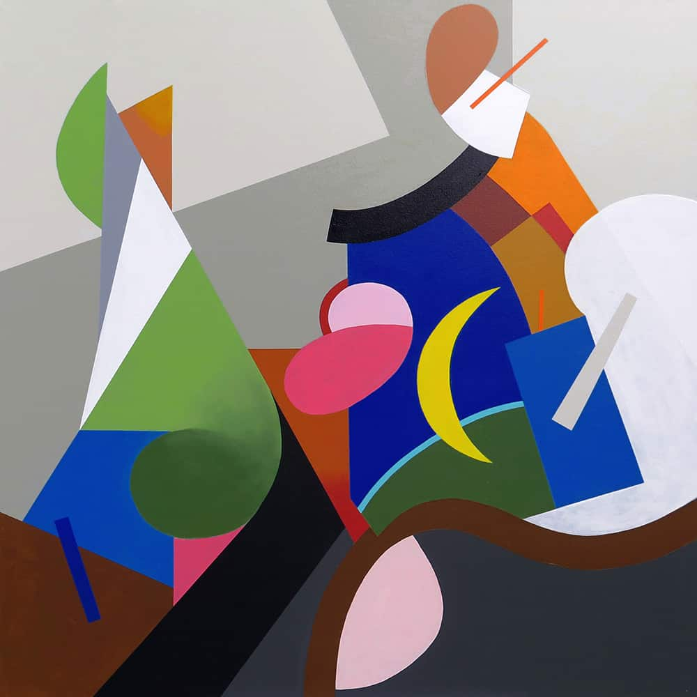 Eric Klemm Homage a Picabia II 48x48