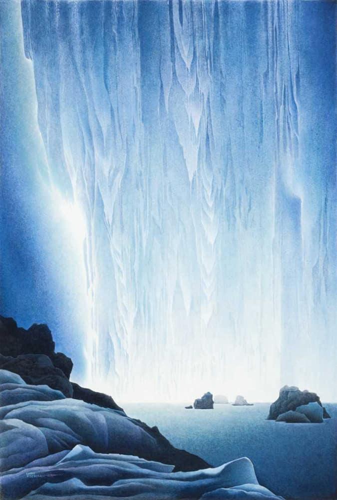 Lloyd Fitzgerald Glacial Waterfall