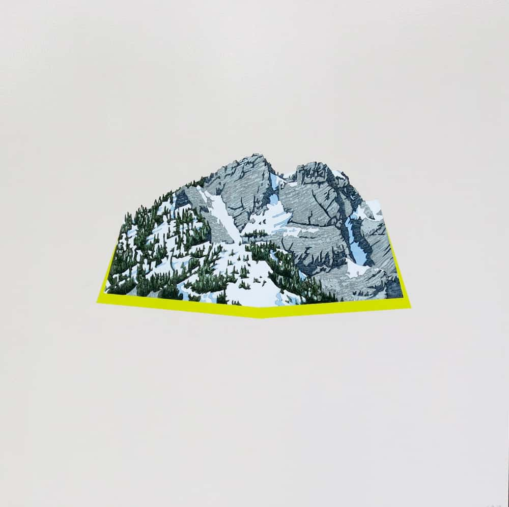 David Pirrie Still Life With North Shore Mtn Crown Mtn East Face