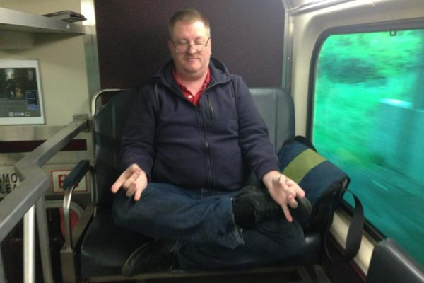 Yoga on Train