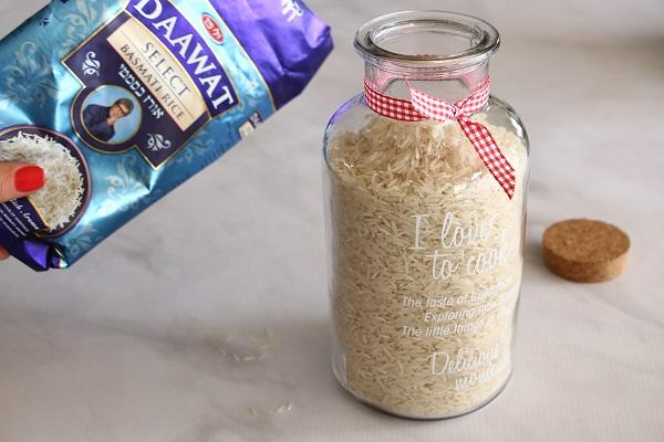 איך להכין אורז לבן אשת סטייל