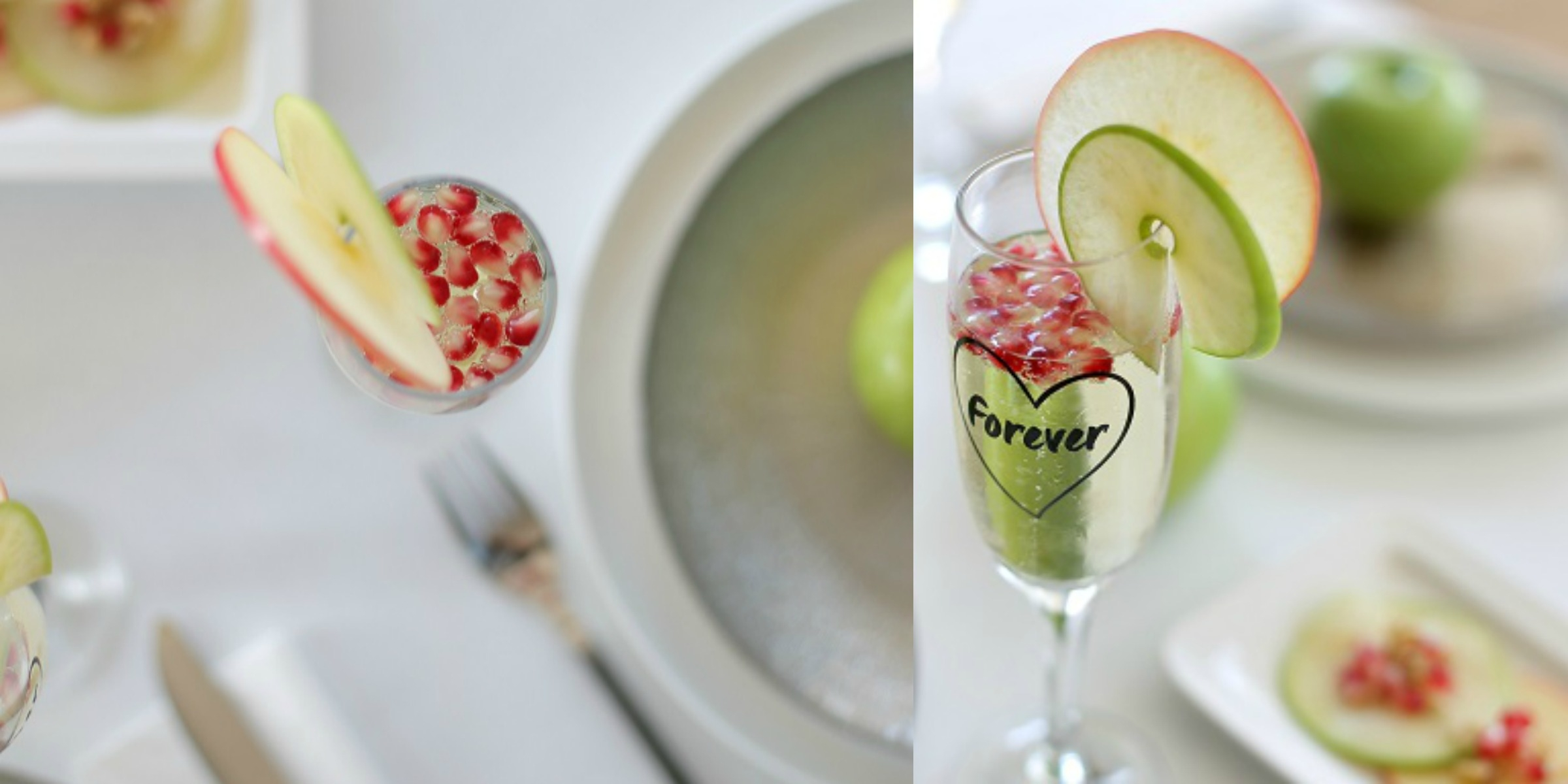 כוסית שמפניה מקושטת לראש השנה - אירוח בסטייל EshetStyle (צילום: טליה הדר)