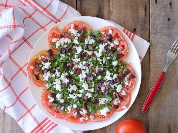קרפצ'יו עגבניות_סלט עגבניות_מנה ראשונה עם עגבניות_אירוח בסטייל_צילום ומתכון: טליה הדר