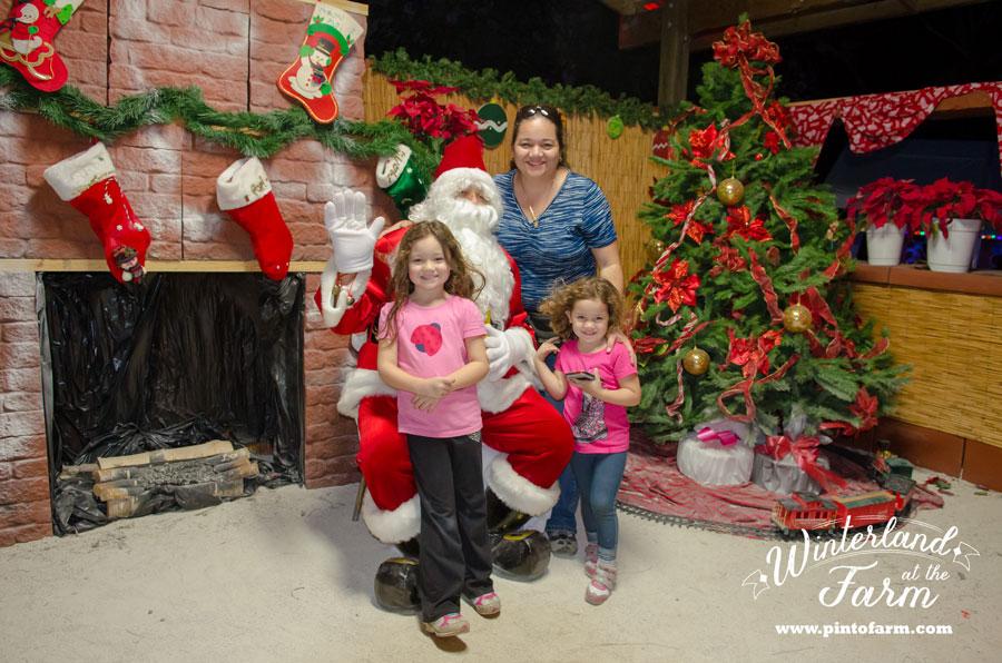 Santa in winterland at the farm, miami