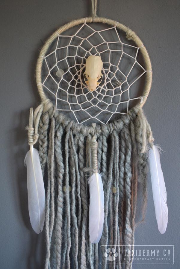 Handmade Skull Dreamcatcher