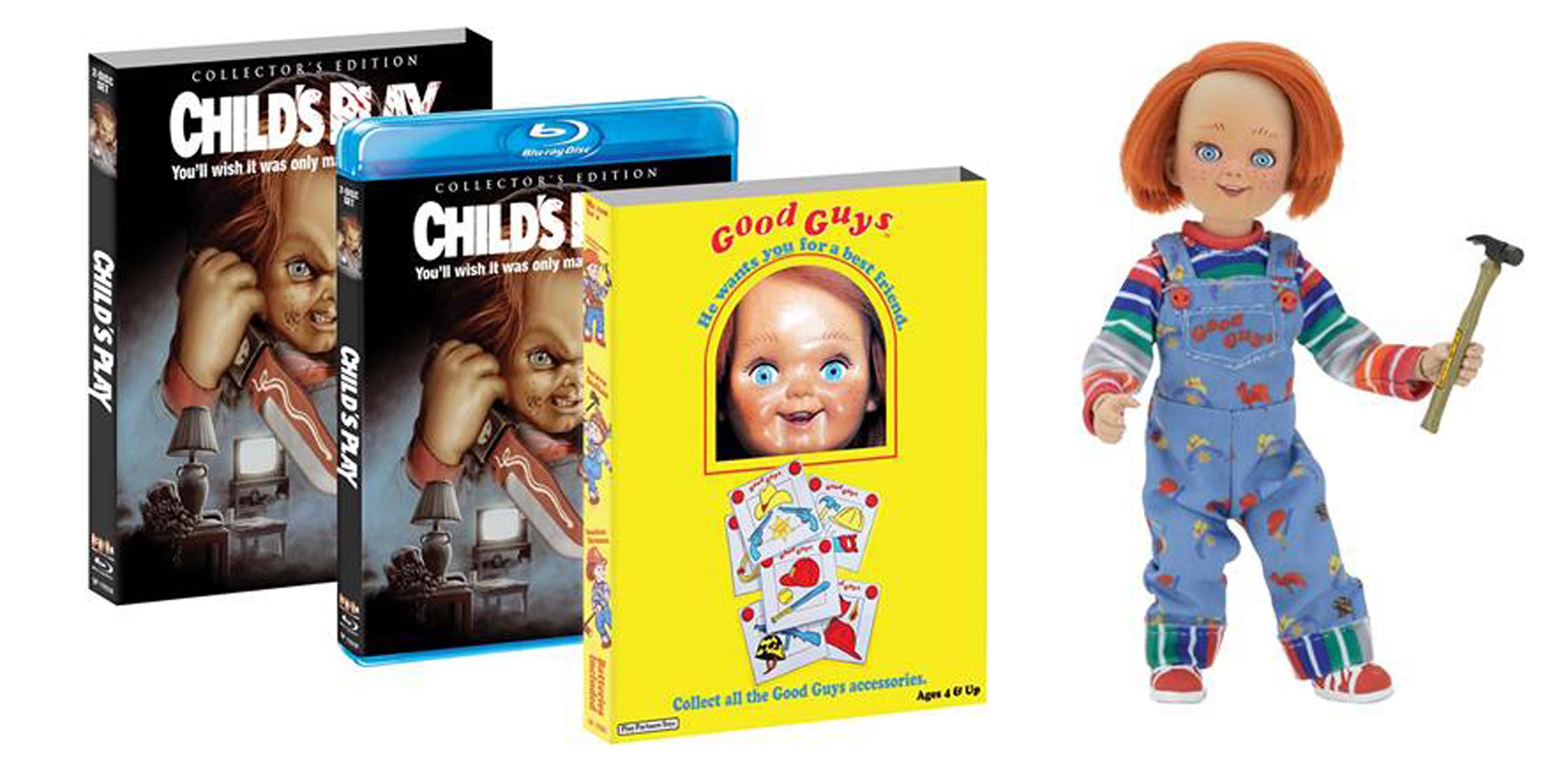NECA CHUCKY DOLL FOR LIMITED EDITION OF CHILD'S PLAY Blu-ray