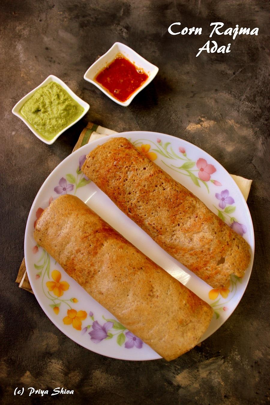 Corn Rajma Adai Recipe